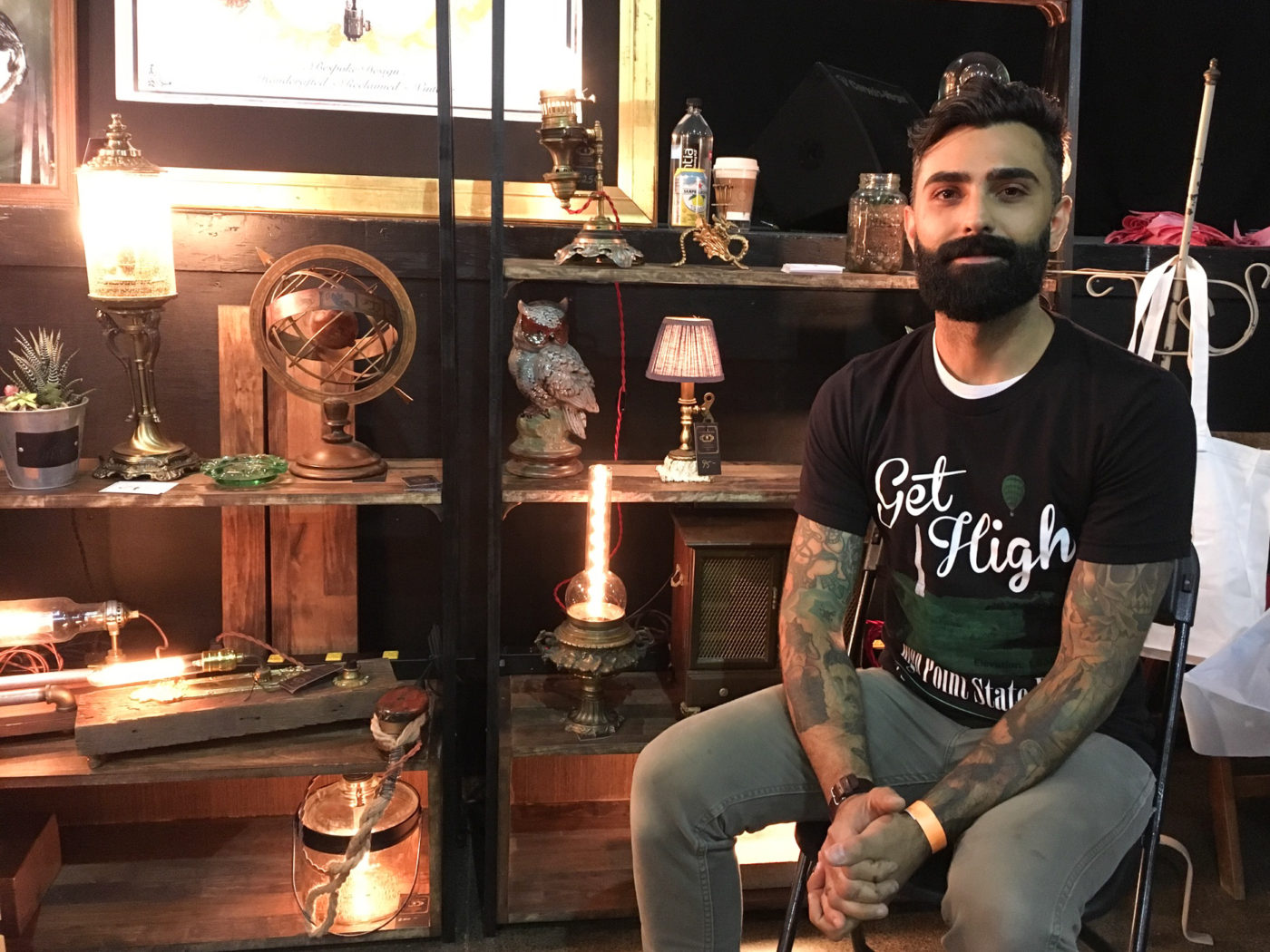 Portraits of the Jersey Shore Asbury Park Punk Rock Flea Market Lamp Maker