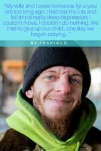 Homeless couple is forced to give up child. Then they began to pray, and GOD MOVED. Be inspired. #inspire #inspirational #homelessness #faith #prayer #portraitsofthejerseyshore