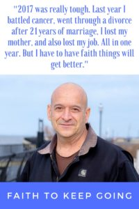 faith to keep going - one mans battle through cancer, divorce, the loss of his mom and job, and he still has the strength to keep going. #faith #inspire #cancer #sober #inspirational #portraitsofthejerseyshore